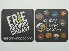 BEER COASTER: ERIE Brewing Co ~ NEW YORK: Train, Cherries, Dog, Lost Boat, Gavel