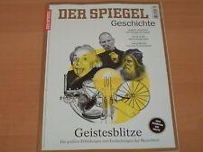 "DER SPIEGEL GESCHICHTE ""Geistesblitze"" Ausgabe 4/2017 NEUWERTIG"