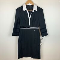 Lisa Ho For Commonwealth Bank Womens Black Shift Dress Size 6 New With Tags