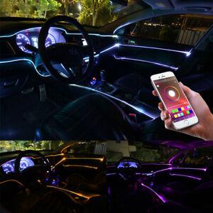 1x Car Ambient Atmosphere Lighting RGB LED Interior Strip Light Trim APP Control