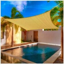 15' x 15 ' Square Sun Shade Sail Outdoor Garden Canopy Patio Pool Beige