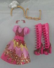 Ever After High Doll Ginger Breadhouse Outfit Clothes Dress Glasses Shoes Lot