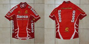 Team Saeco Cannondale Cycling 3 Jersey Red Cycle Italy Camiseta Cintage