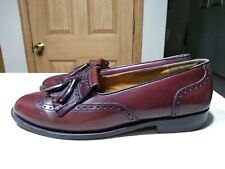 Cole Haan Mens Tassel Loafer Wing Tip Maroon Burgandy Size 9.5 Leather
