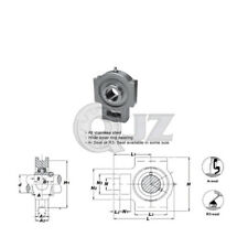 1 in Take Up All Stainless Steel SSUCT205-16 Mounted Bearing SUC205-16+ST205