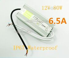 For SMD RGB lamp 80W IP67 waterproof grade LED 12V 6.5A driver power adapter