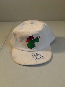 Vintage 1990s Philadelphia Phillies SIGNED Phillie Phanatic Baseball Cap Hat