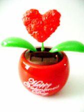 Solar Powered Dancing Big Heart Flip Flap Heart Bobble Swing (Red) Pot