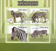 Madagascar 2015 CTO Zebras 4v M/S Wild Animals Stamps