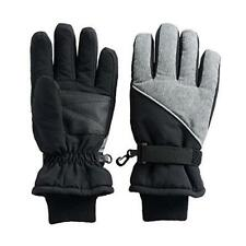 NEW Tek Gear Warm Tek Boys' Ski Cold-Weather Gloves - Black & Gray - M/L (8/20)