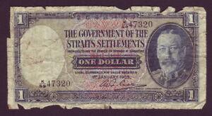 Straits Settlements • 1935 • $1 (One Dollar) Banknote • King George V