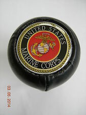 LEATHER GEAR SHIFT KNOB US UNITED STATES MARINE CORP MARINES CORPS