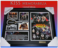 KISS THE ORIGINAL MEMORABILIA SIGNED FRAMED LIMITED 499
