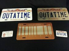 OUTATIME, BACK TO THE FUTURE, LICENSE PLATE, movie props, marty mcfly, BTTF