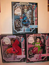 Monster High Little Dead Riding Wolf, Snow Bite and Threadarella **New in Box**