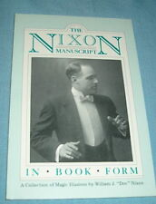 HONG KONG MYSTERIES Manuscript 80 page book by DOC NIXON Stage Magic Illusions