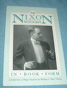 HONG KONG MYSTERIES Manuscript 80 page book by DOC NIXON Stage Magic Illusions