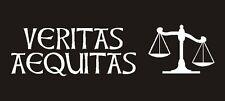 Veritas Equitas Decal (Truth & Justice) - White