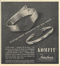 1957 Forstner KOMFIT Watch Band PRINT AD
