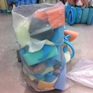 Upholstery Foam Scrap Off Cuts. Large Bag. Packaging / Craft Foam Use