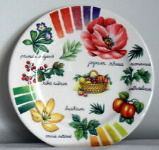 Home Essentials Ceramic Poecelain Luncheon Harvest of Fruits Plate
