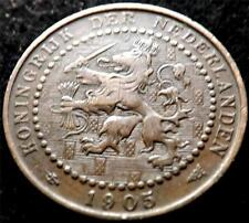 1905 NETHERLANDS 1 ONE CENT COIN