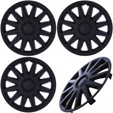 "4 Pc Set of 15"" inch Matte Black Hub Caps Rim Cover for Steel Wheel - Covers Cap"