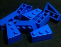 Lego Brick Wedge 2x3 Left & Right [6565 & 6563] Blue x4 pairs