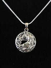 Einhorn Silver Unicorn Anhänger Silber Gothic Schmuck - NEU