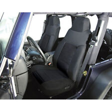 Jeep Wrangler Tj 03-06 Front Fabric Seat Covers Pair Black  X 13243.01