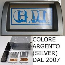 Mascherina telaio kit doppio 2 Din LANCIA Y Ypsilon da 2007 in poi colore SILVER