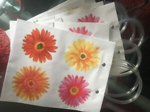 NEW Lot of 6 Daisy Flower Floral Paper Gift bags wrapping - White Multicolored