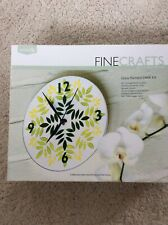 Reeves Fine Crafts Glass painted Clock Kit Boxed Opened Unused