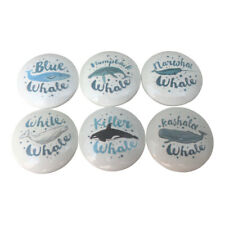 Set of 6 Whale Cabinet Knobs