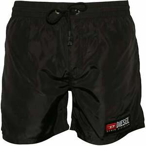 Diesel Jeans Logo Men's Swim Shorts, Black