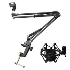 New Microphone Suspension Boom Scissor Arm Stand Holder with Mic Shock Mount