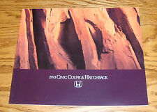 Original 1993 Honda Civic Coupe & Hatchback Sales Brochure 93