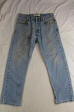 Levi 505 Straight Leg Zipper Fly Faded Denim Jeans Tag 33x30 Measure 32x29