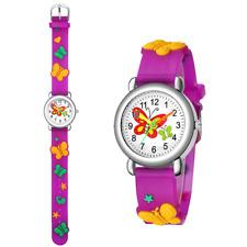 Watch for Girls Kids Analog Wristwatch Cute 3D Silicon Cartoon Strap