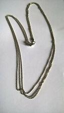 Collier en Argent Massif 925 3 Rangs de Chaines / Sterling Necklace