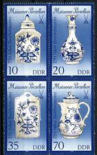 Germany DDR Meissen Onion-pattern Porcelain Block of 4 MNH Scott's 2740 to 2743