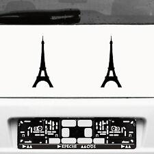 2 Autocollant Tatouage 20 cm Noir Voiture Porte Mur film Paris Tour Eiffel Eiffel