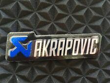 2 x Oval AKRAPOVIC 3D Exhaust Heat Proof Resistant Aluminium Sticker Decal Moto