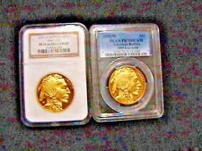 2- Coins 2006 NGC PF70 $50 American Gold Buffalo 1 oz .9999 Fine First Strikes