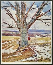 """1970's David Armstrong Vintage Signed Lithograph 8/75 """"Spring Winds"""" 26 by 21"""""""
