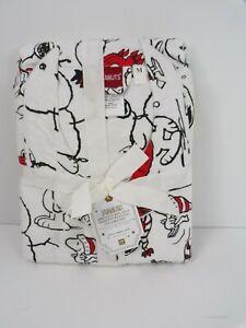 Pottery Barn Teen Peanuts Organic Flannel Snoopy Pajama Set Medium #6331