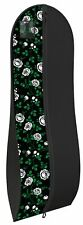 "Gown Garment Bag for Women Dresses Travel Folding Loop ID Window 72""x 24"" -Roses"