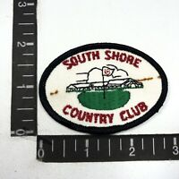 Vtg SOUTH SHORE COUNTRY CLUB Golf Patch 98C7
