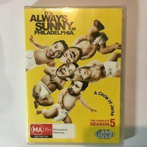 IT'S ALWAYS SUNNY IN PHILADELPHIA SEASON 5 - DVD 3 DISCS - R4 - VGC - FREE POST