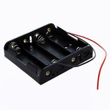 Contenitore per 4 Stilo AA Porta Batterie in Plastica con Cavi G5W1